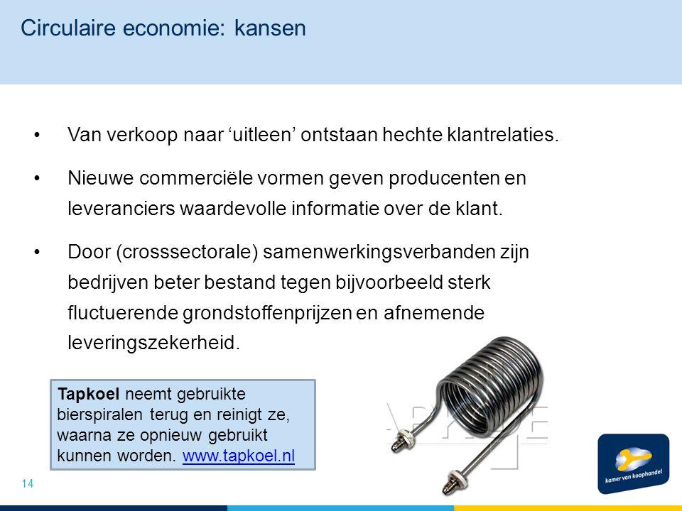 Circulaire economie: kansen Van verkoop naar 'uitleen' ontstaan hechte klantrelaties. Nieuwe commerciële vormen geven producenten en leveranciers waar
