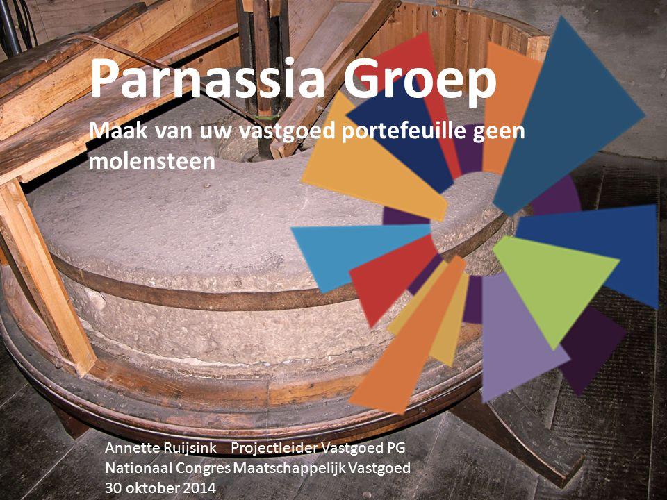 Parnassia Groep Maak van uw vastgoed portefeuille geen molensteen Annette Ruijsink Projectleider Vastgoed PG Nationaal Congres Maatschappelijk Vastgoe