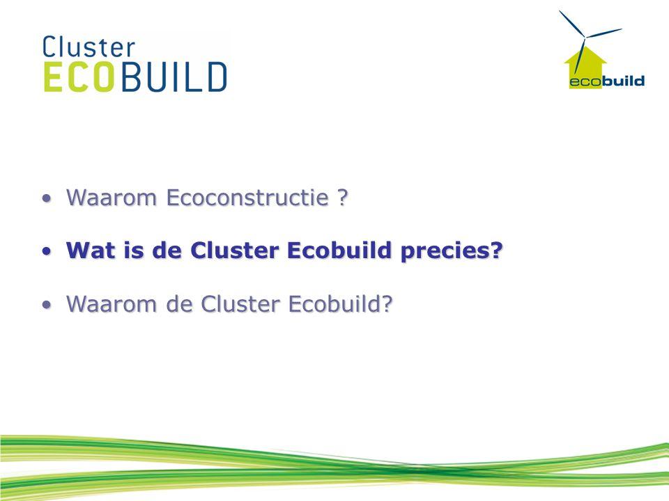 Waarom Ecoconstructie ?Waarom Ecoconstructie .