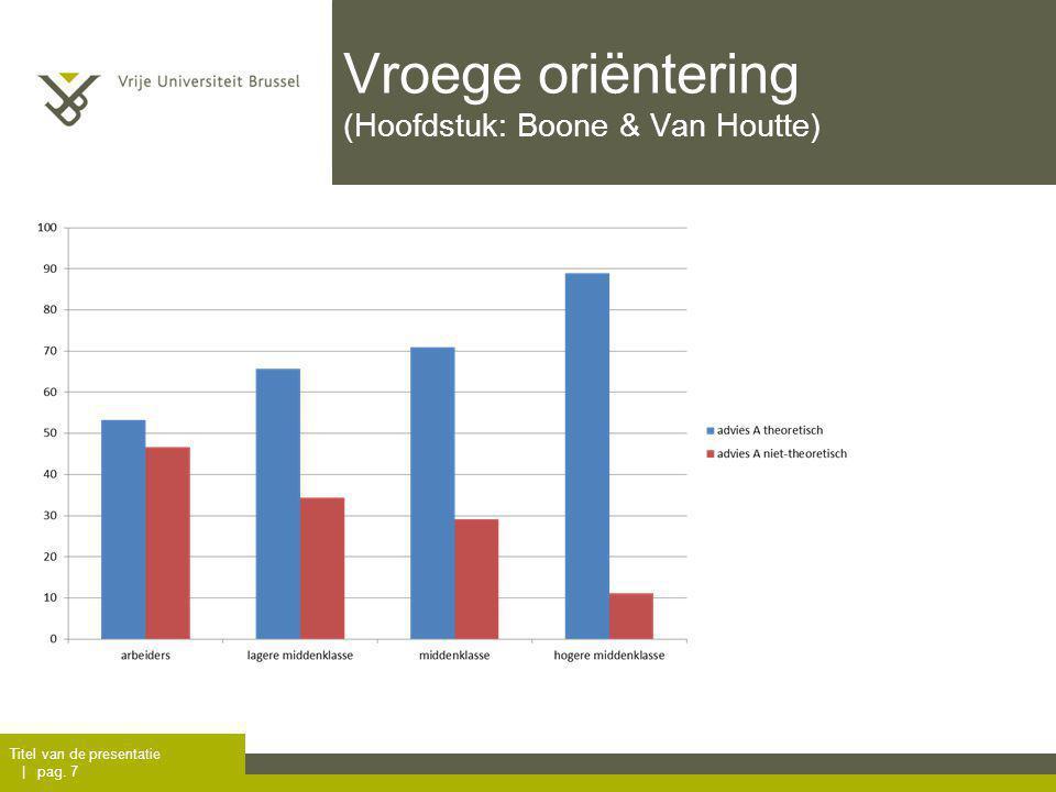 Vroege oriëntering (Hoofdstuk: Boone & Van Houtte) Titel van de presentatie | pag. 7