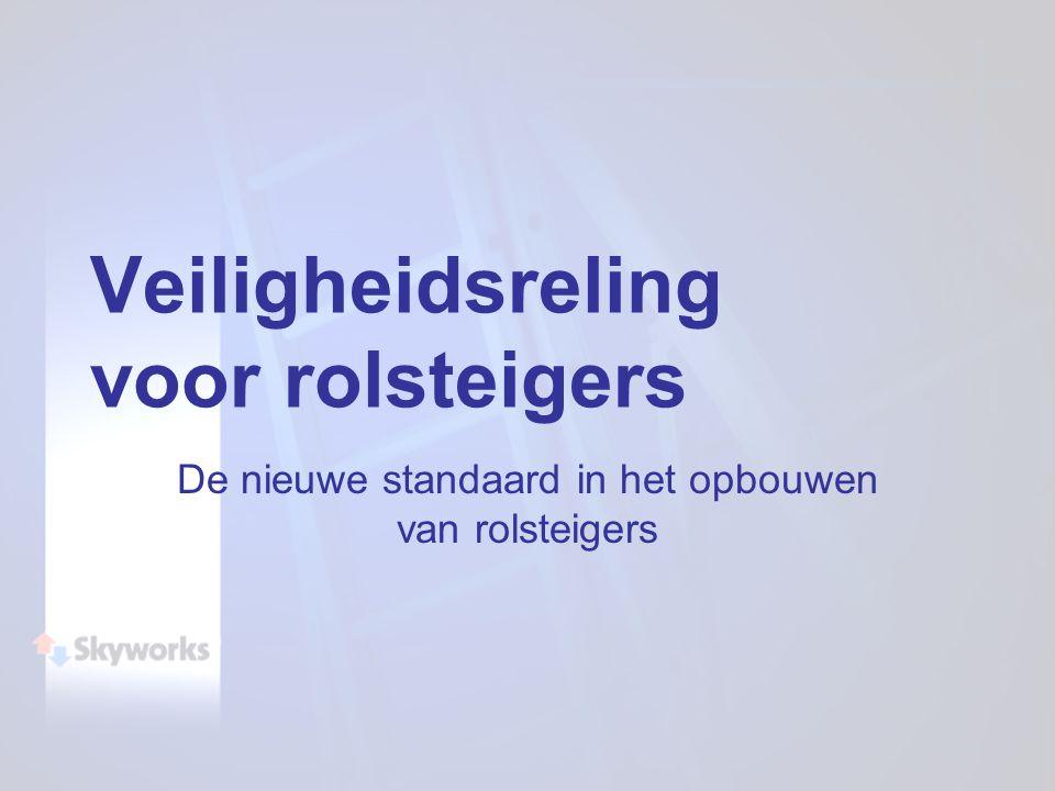 De nieuwe standaard in het opbouwen van rolsteigers Veiligheidsreling voor rolsteigers