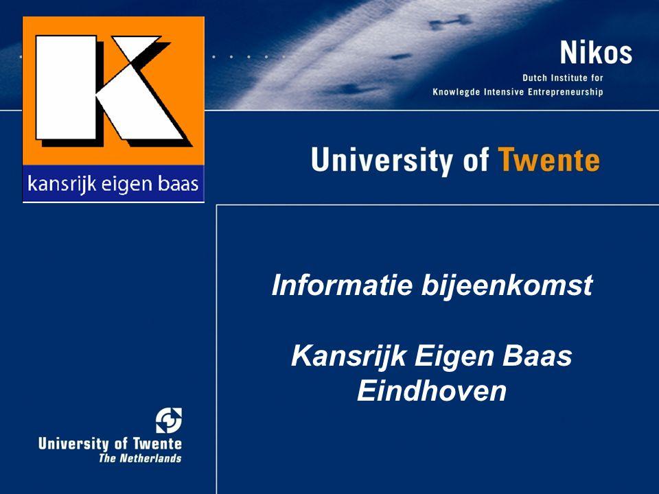 Informatie bijeenkomst Kansrijk Eigen Baas Eindhoven