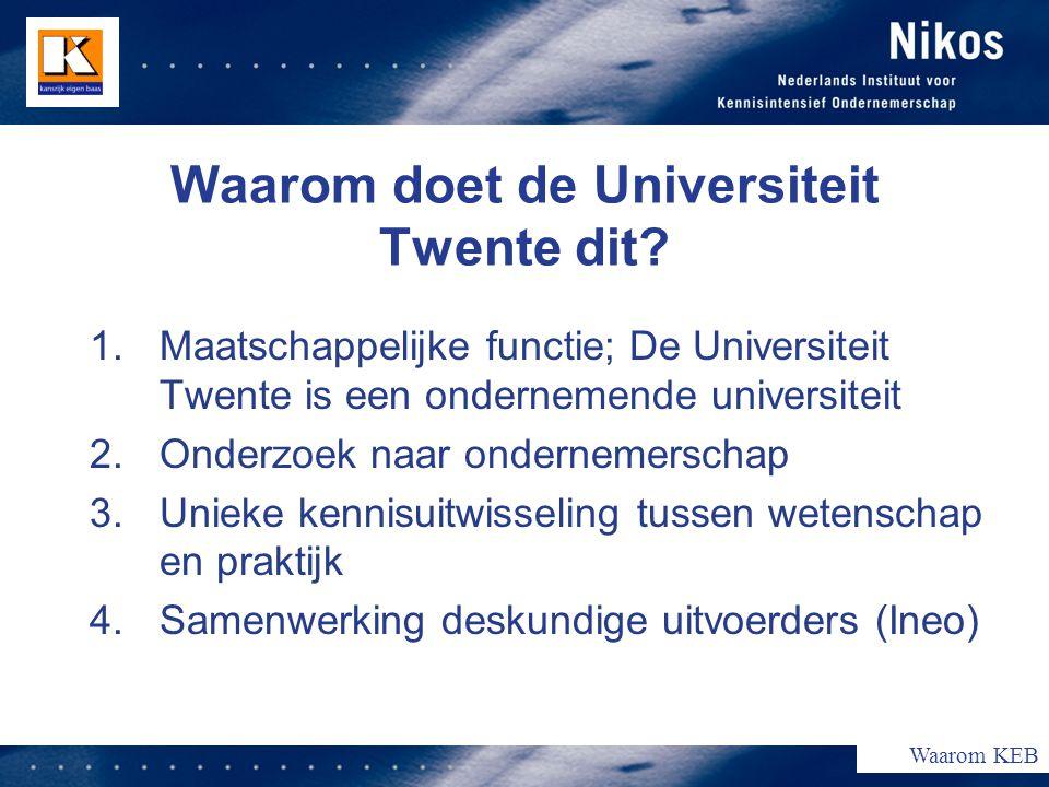 Waarom doet de Universiteit Twente dit.
