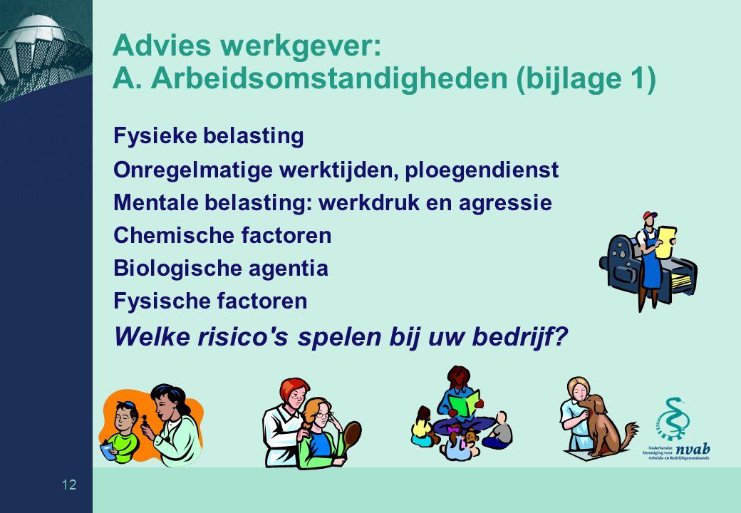 12 Advies werkgever: A.
