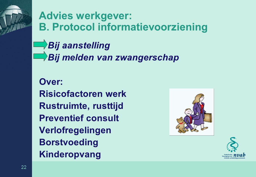 22 Advies werkgever: B.