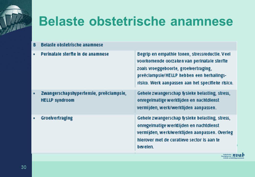 30 Belaste obstetrische anamnese