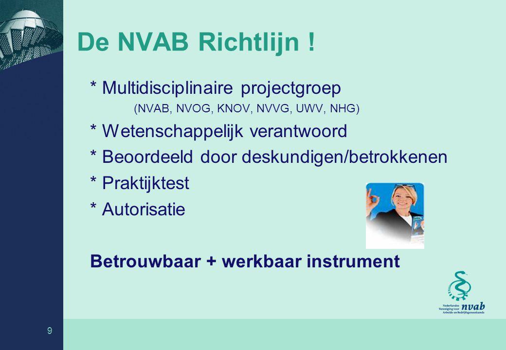 9 De NVAB Richtlijn .