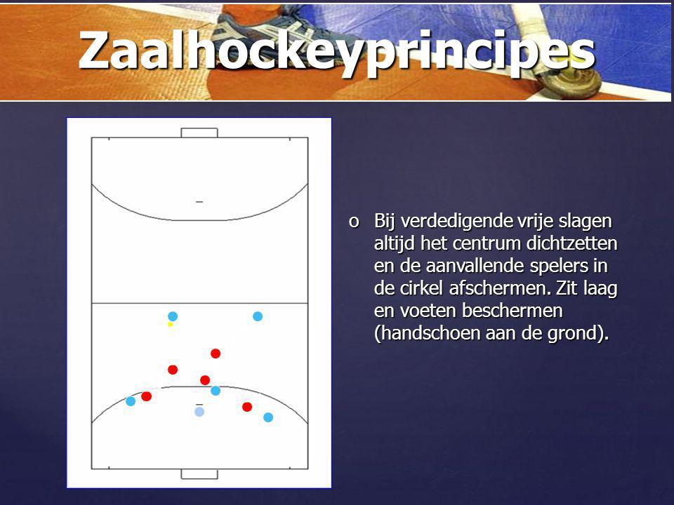 { oDe balken gebruiken! Indirect aanspelen. Zaalhockeyprincipes