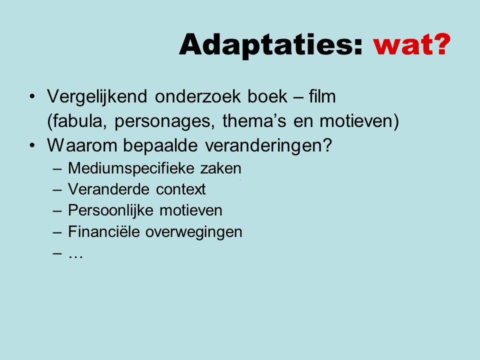 Adaptaties: wat.Voorbeeld: Bijvoorbeeld: Fons Rademakers, Als twee druppels water (1963) > W.F.
