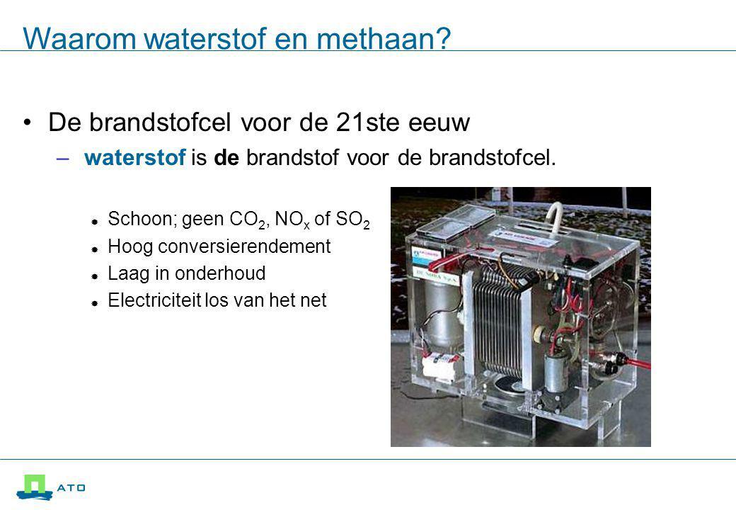 Waarom waterstof en methaan.