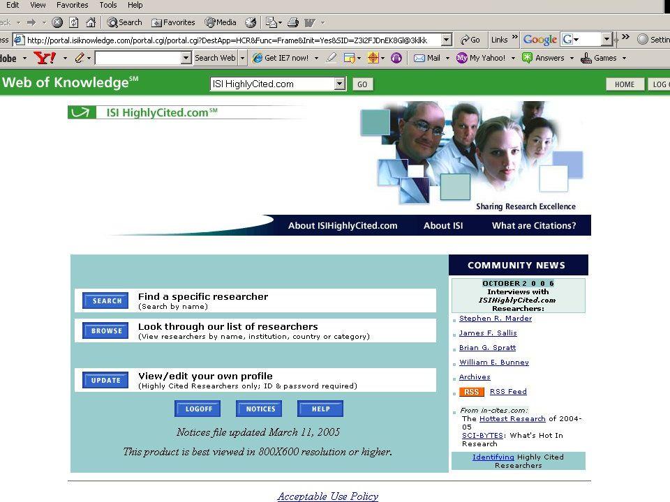ISI HighlyCited 1981-1999  Berendsen: 8067 ???