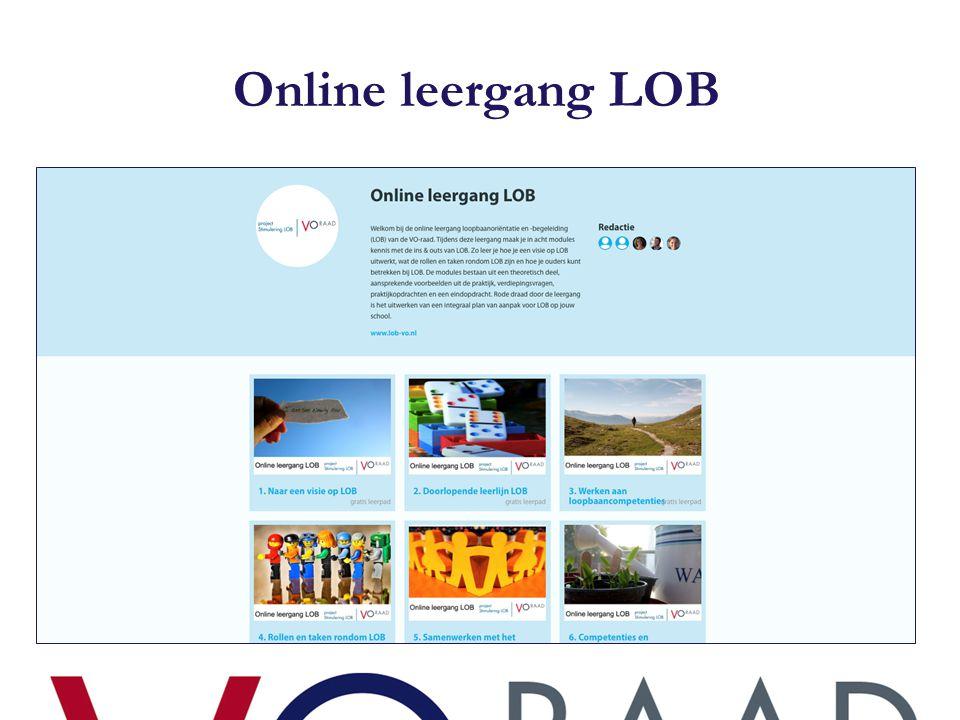 Waarom een online leergang LOB.