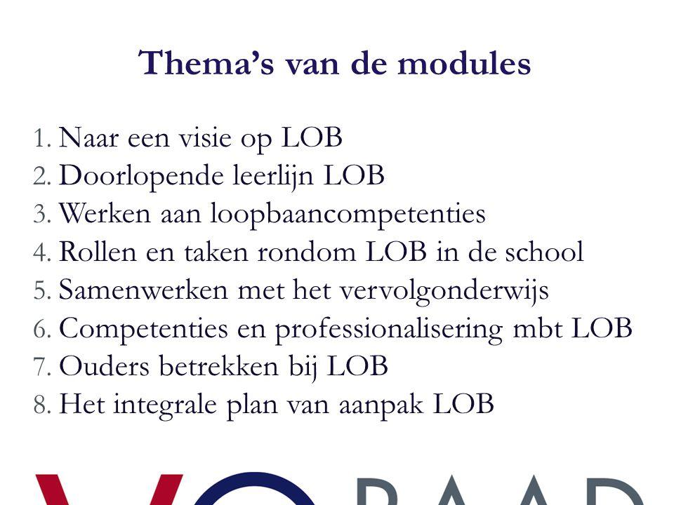 Kritische succesfactoren  Toe willen werken naar een LOB- beleidsplan dat betekenis kan krijgen in de school, en dus …  Expliciete en impliciete steun van de schoolleiding  Tijd en ruimte om te studeren en anderen binnen de school te betrekken bij de ontwikkeling van het plan