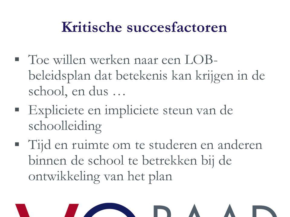 Waarom moeten leerlingen bij jou op school het LOB- programma volgen/uitvoeren?