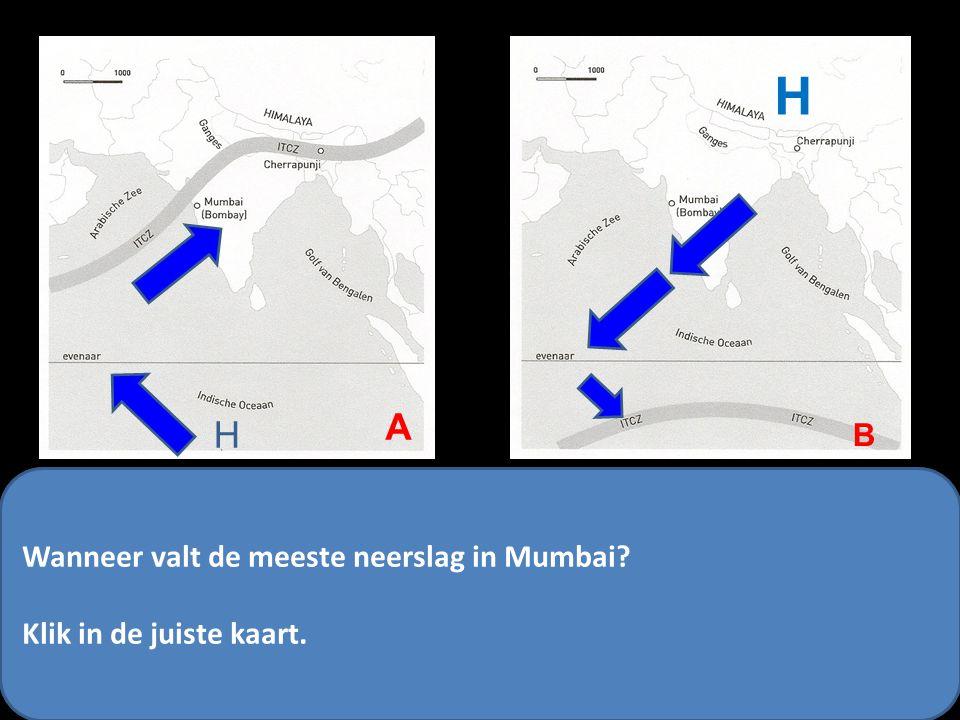 H A B Je begrijpt nu dat…… -Mumbai In juni / juli heeft te maken heeft met een aanlandige wind. -Mumbai in december / januari te maken heeft met een a