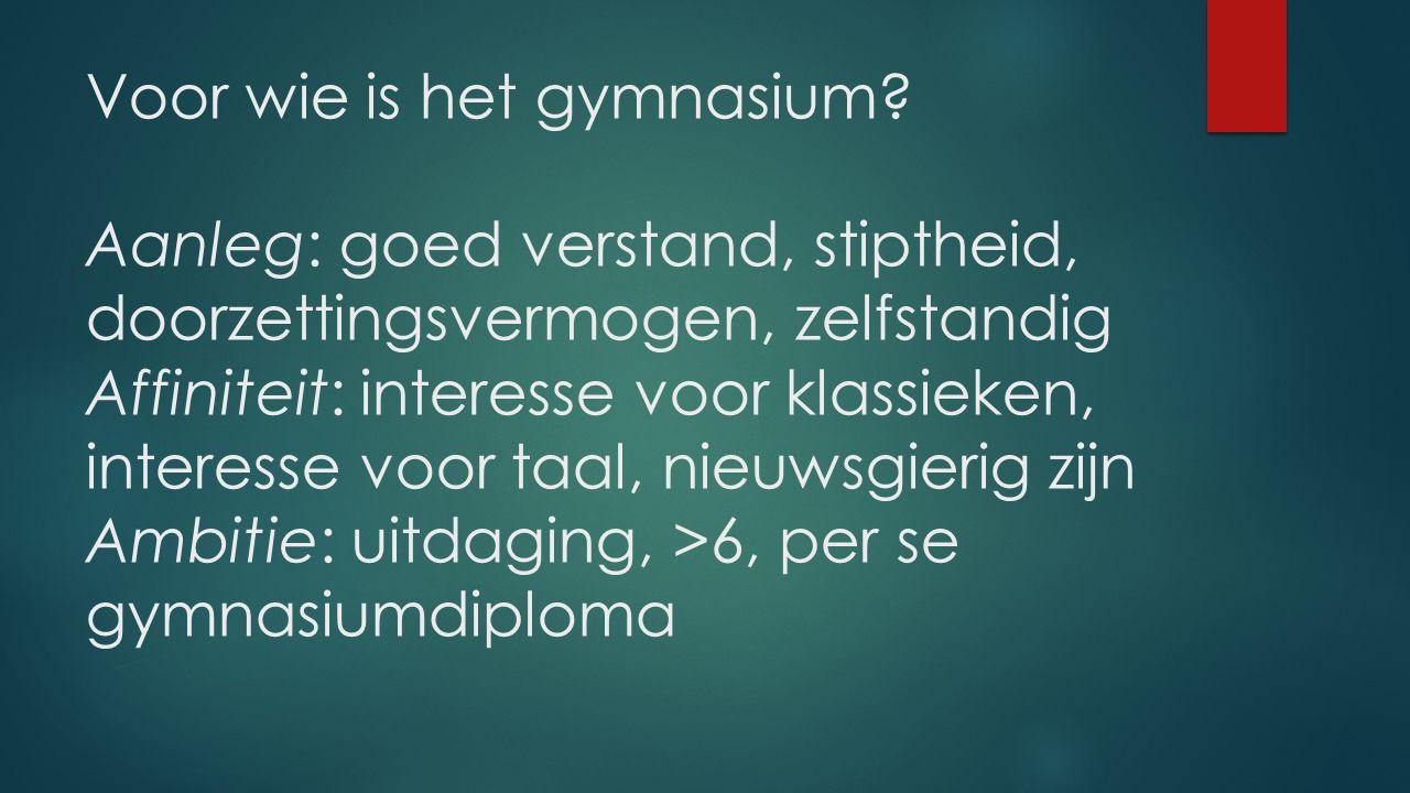 Voor wie is het gymnasium.