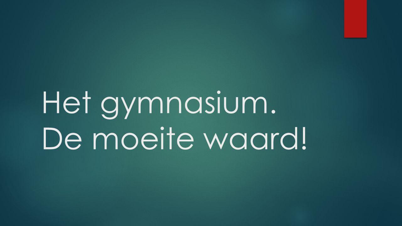 Het gymnasium. De moeite waard!