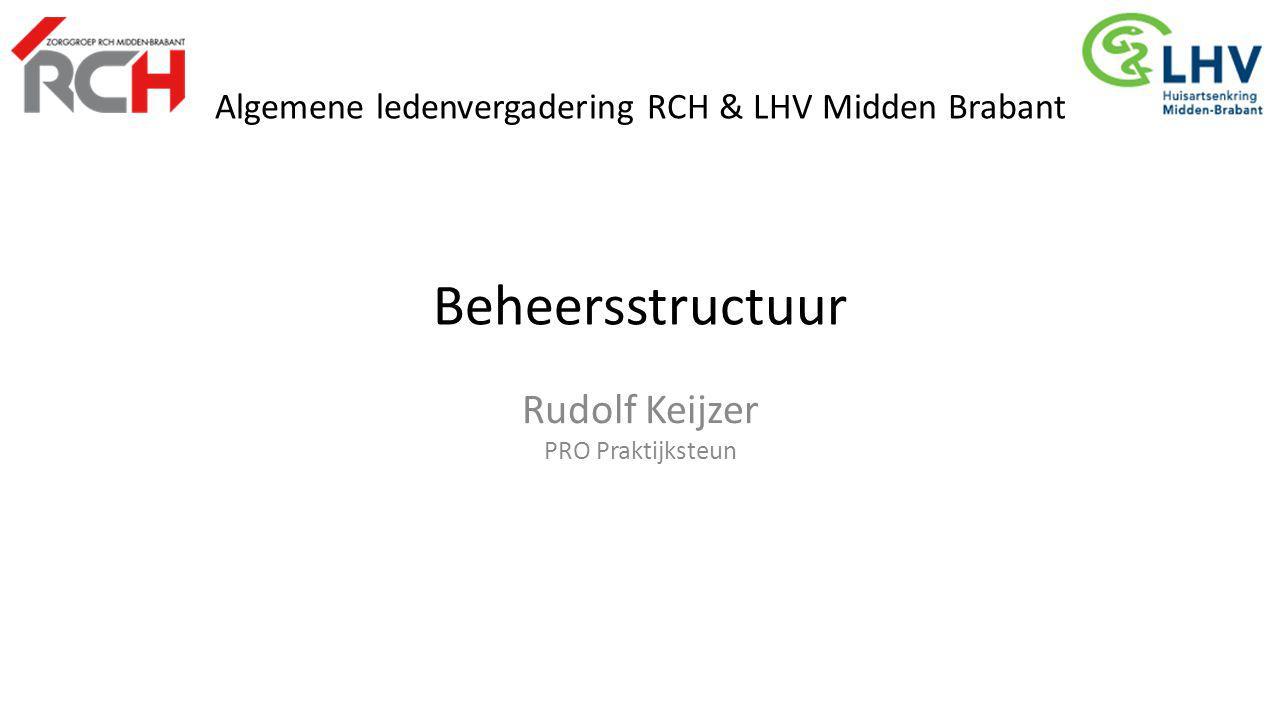 Algemene ledenvergadering RCH & LHV Midden Brabant Beheersstructuur Rudolf Keijzer PRO Praktijksteun