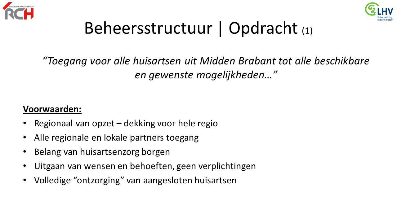 """""""Toegang voor alle huisartsen uit Midden Brabant tot alle beschikbare en gewenste mogelijkheden…"""" Voorwaarden: Regionaal van opzet – dekking voor hele"""