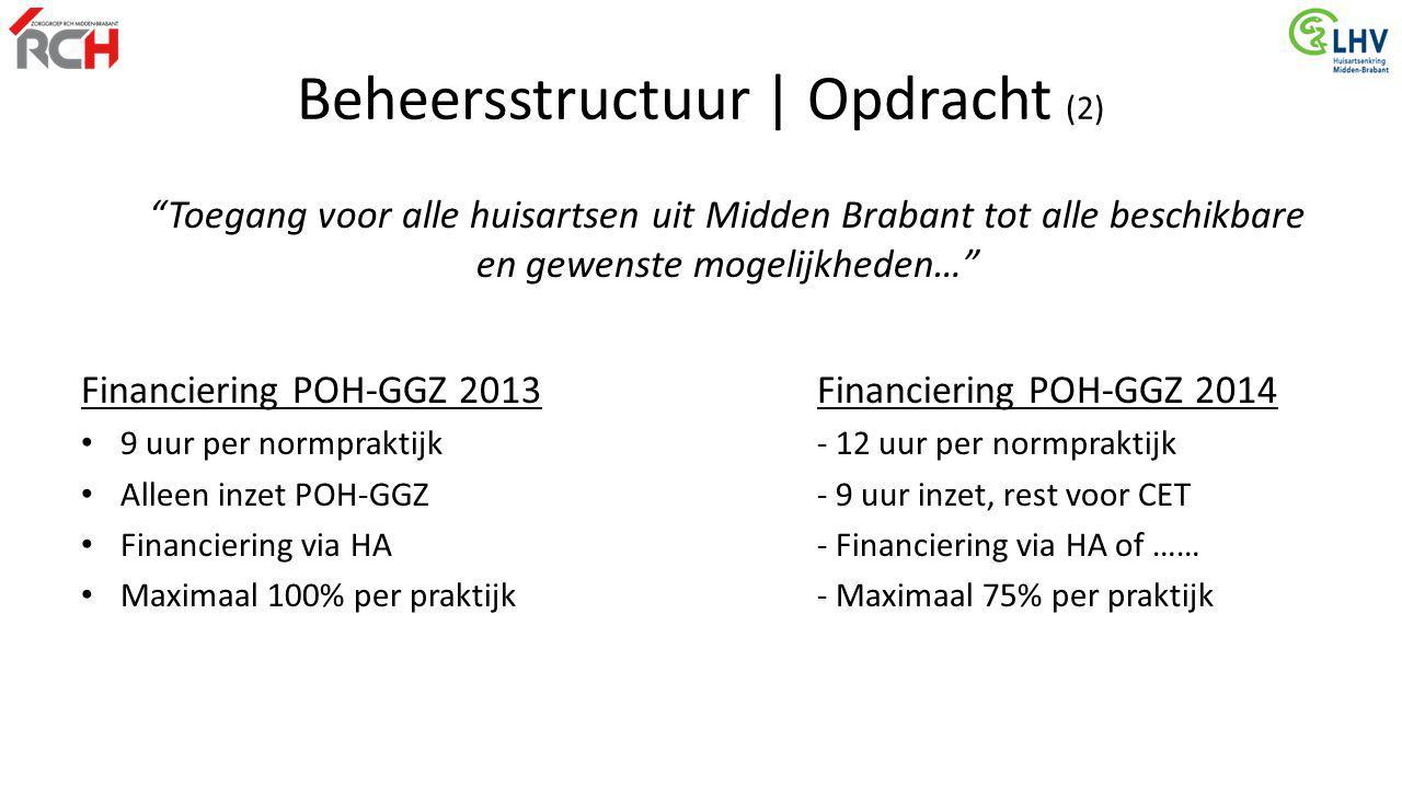 """""""Toegang voor alle huisartsen uit Midden Brabant tot alle beschikbare en gewenste mogelijkheden…"""" Financiering POH-GGZ 2013Financiering POH-GGZ 2014 9"""