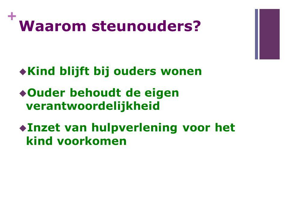 + Stichting Steunouder  Op zoek naar professionele organisaties voor uitvoering.