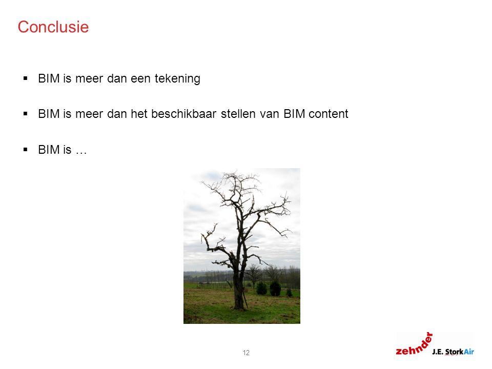 6.0 6.8 11.8 8.8 0 Conclusie 12  BIM is meer dan een tekening  BIM is meer dan het beschikbaar stellen van BIM content  BIM is …