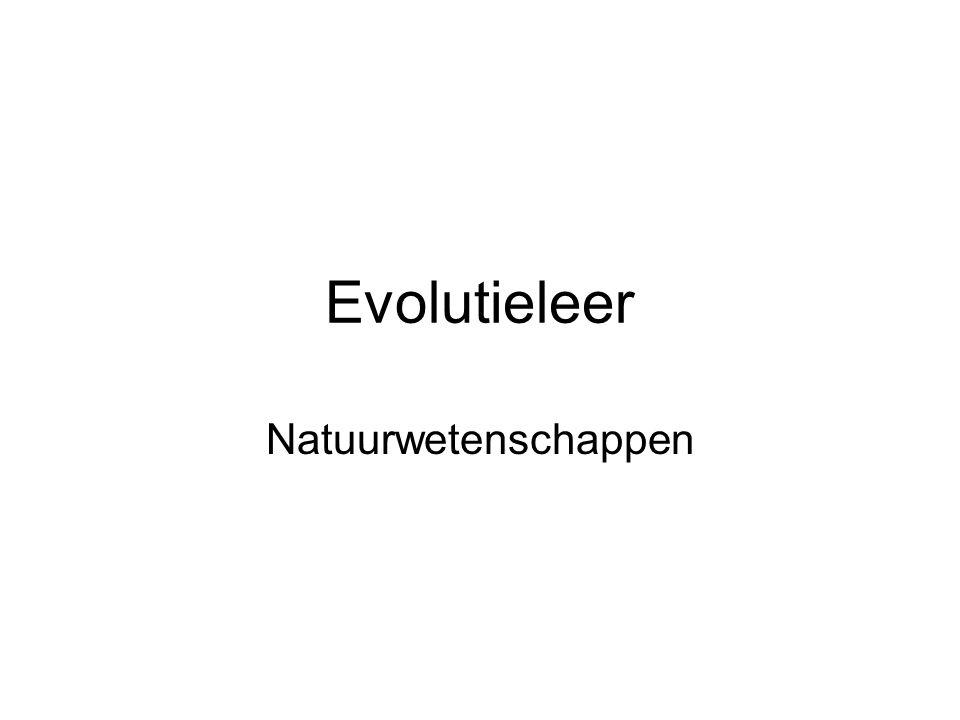 Evolutieleer Natuurwetenschappen