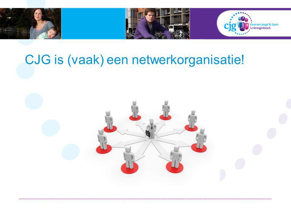 CJG is (vaak) een netwerkorganisatie!