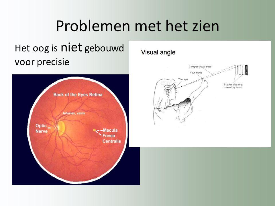 Problemen met het zien Het oog is niet gebouwd voor precisie