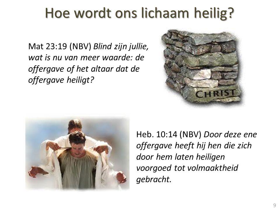 Mat 23:19 (NBV) Blind zijn jullie, wat is nu van meer waarde: de offergave of het altaar dat de offergave heiligt.