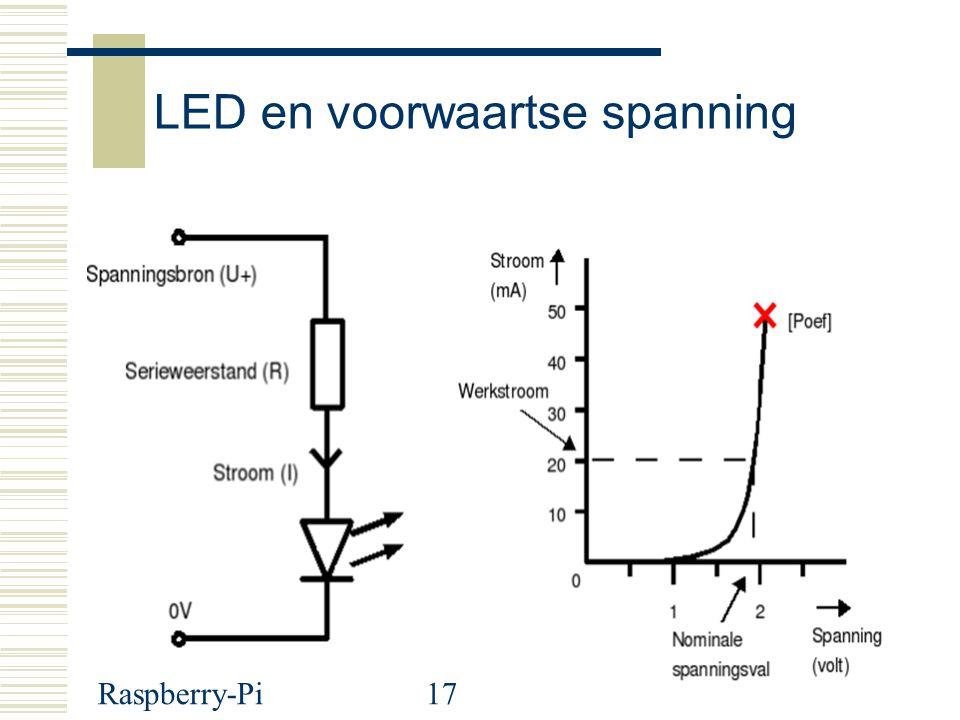 Raspberry-Pi17 LED en voorwaartse spanning Zin: