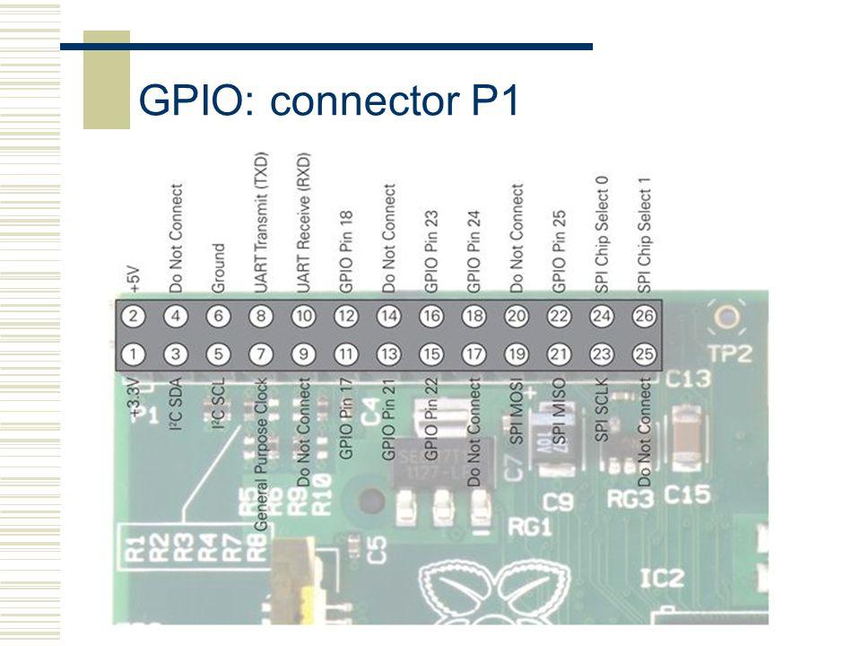 Raspberry-Pi19 GPIO: connector P1