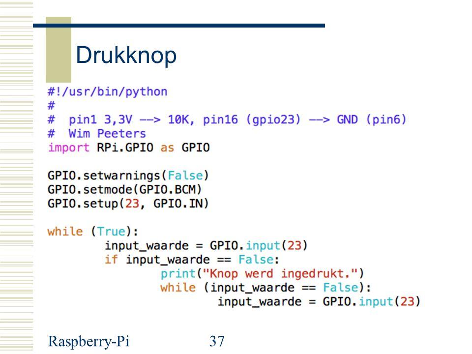 Raspberry-Pi37 Drukknop