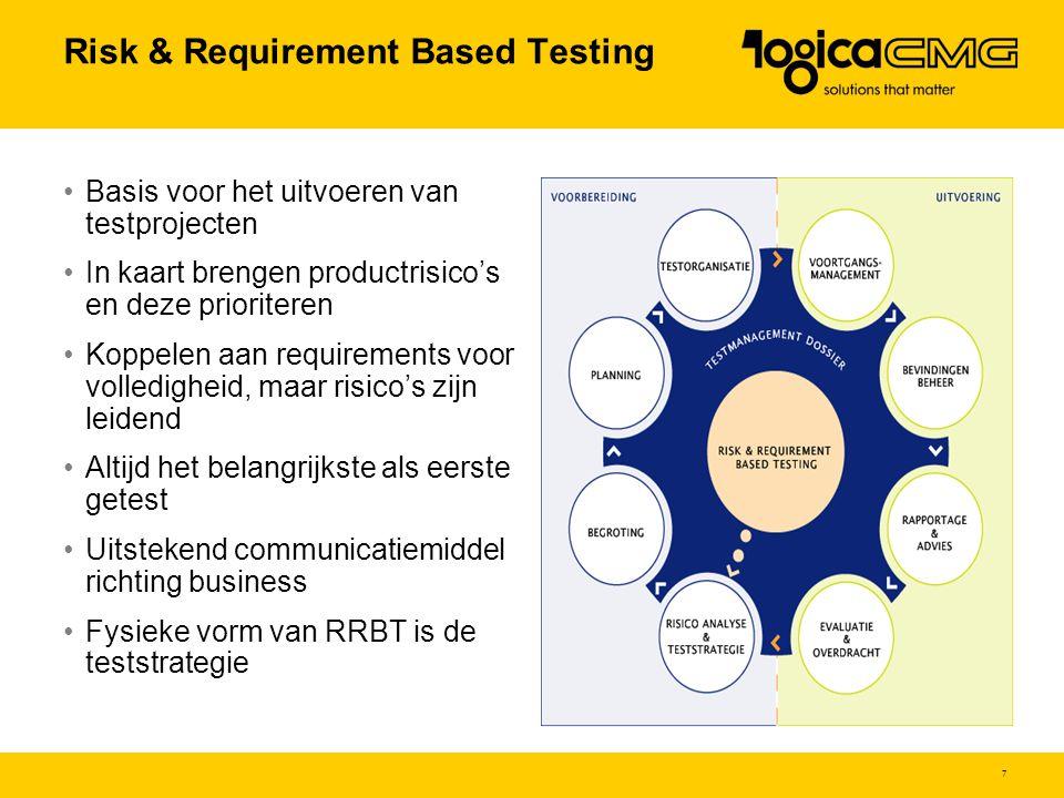 8 Teststrategie pakkettesten $ $ $ $ $ $ indirect testen statisch testendynamisch testen Teststrategie Vertrouwen Match pakket & bedrijfsvoering Invloed Risicomix
