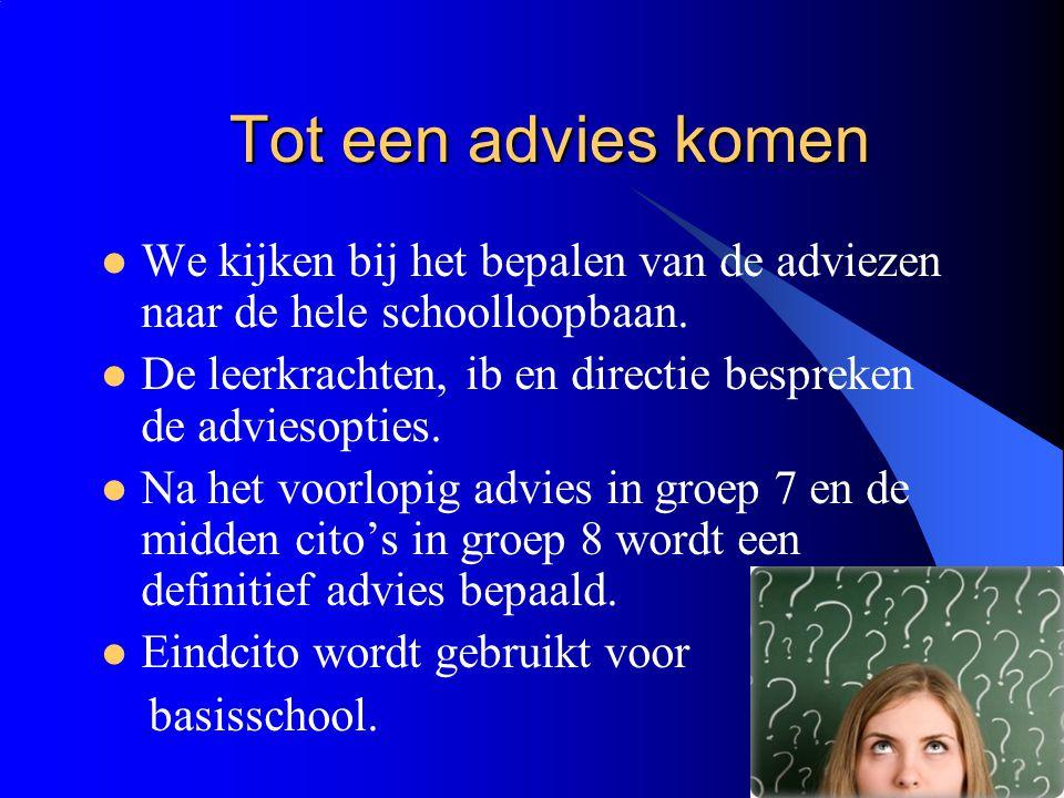 11-12-2014 16 Periodes in het Voortgezet Onderwijs Brugklas, in deze periode worden de keuzeprogramma's gedaan 3 e leerjaar vmbo kies je een sector: zorg en welzijn, techniek, economie of landbouw.