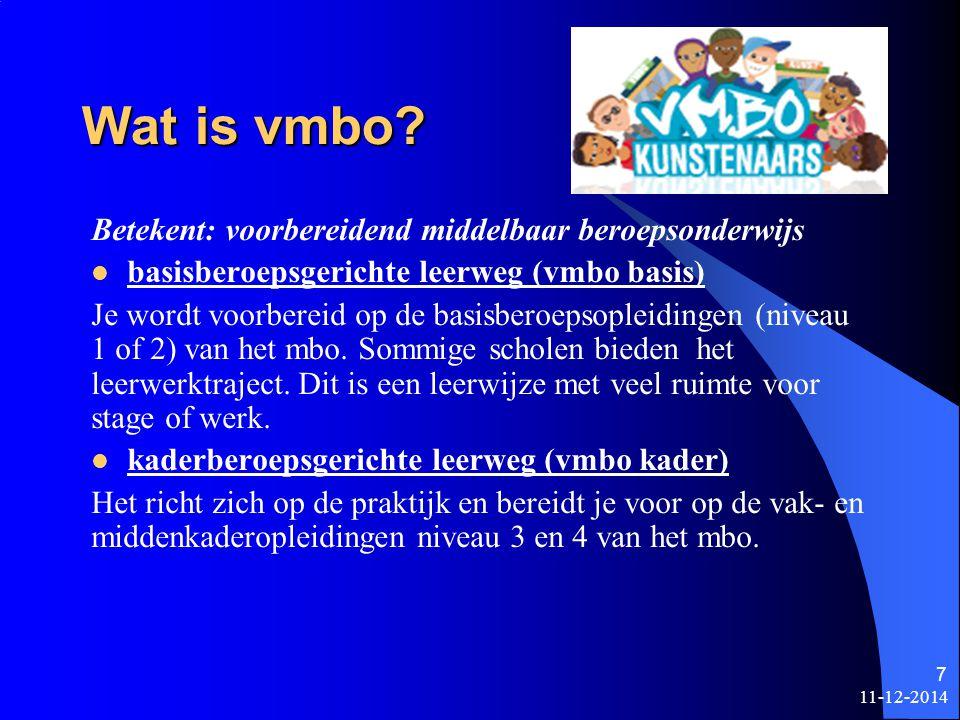 11-12-2014 6 Voortgezet Onderwijs in Nederland