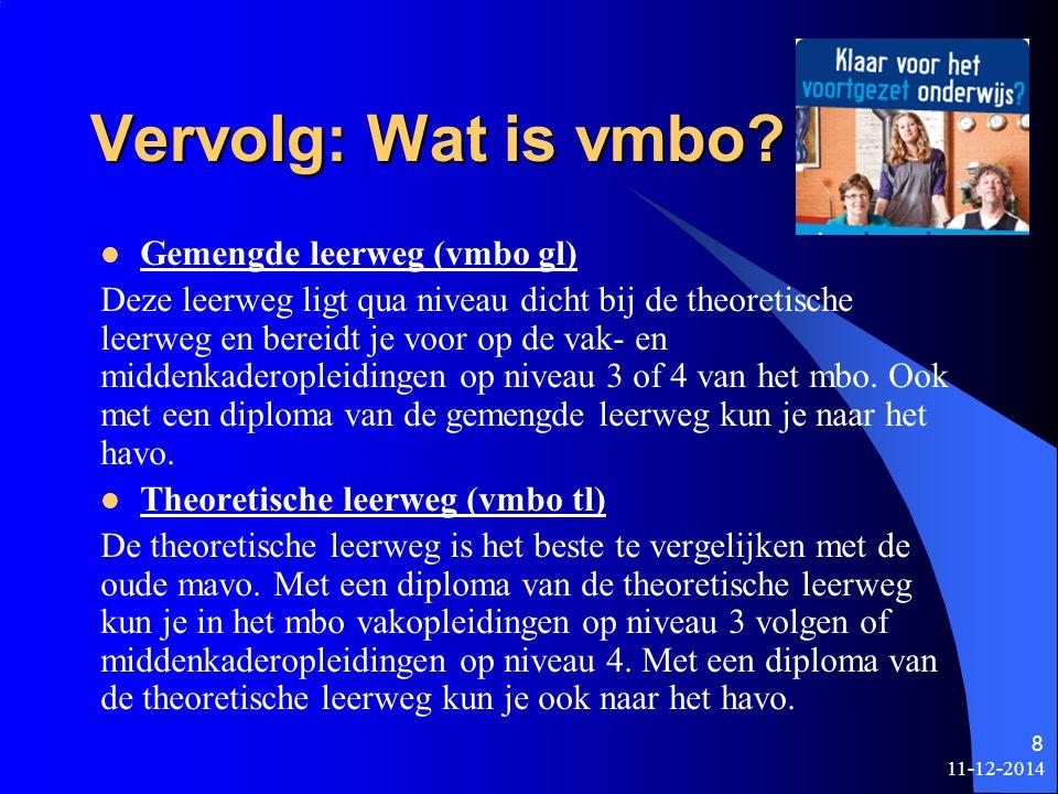 11-12-2014 7 Wat is vmbo.