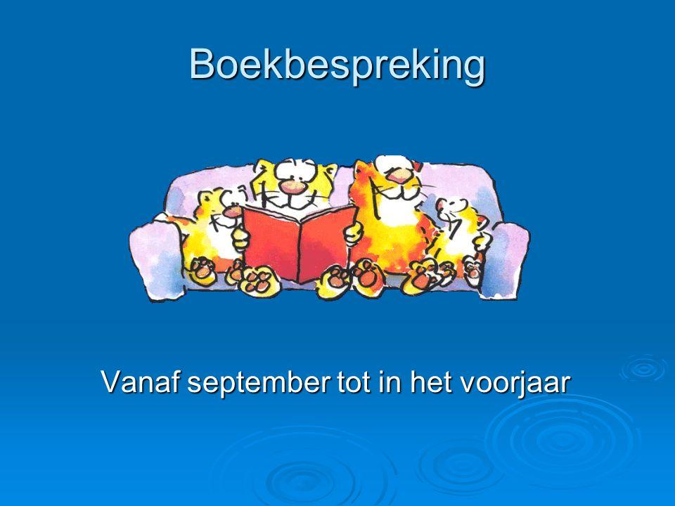 Boekbespreking Vanaf september tot in het voorjaar