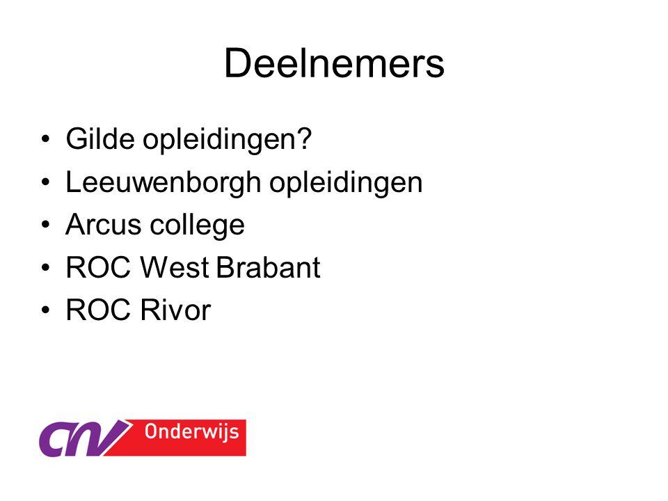 Deelnemers Gilde opleidingen Leeuwenborgh opleidingen Arcus college ROC West Brabant ROC Rivor