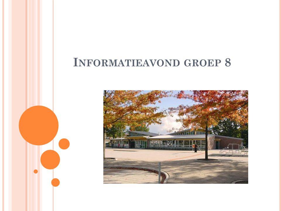 D OEL VAN DEZE AVOND : Praktische zaken groep 8 Gang van zaken rondom VO en verwijzing Bespreken van een aantal VO-scholen