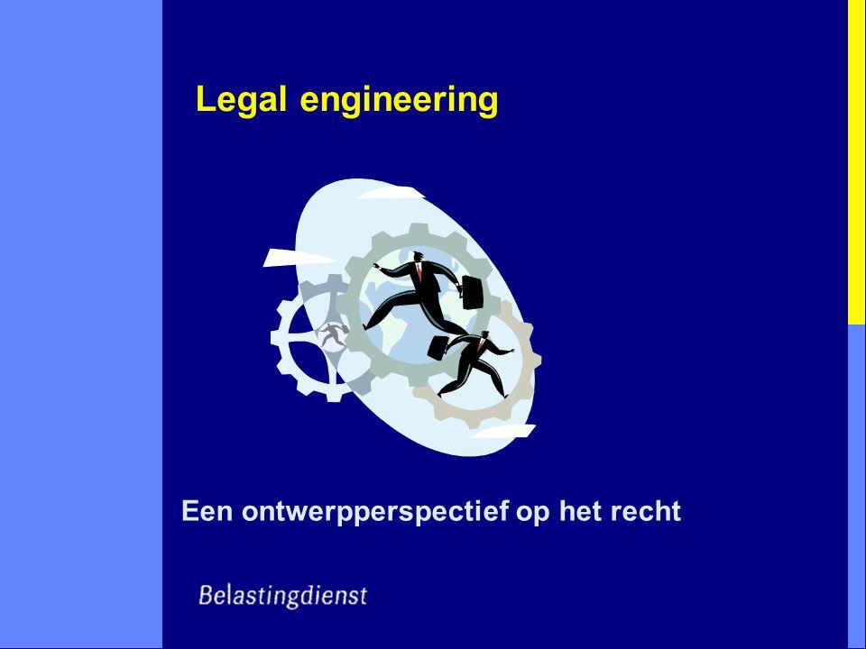 Legal engineering Een ontwerpperspectief op het recht