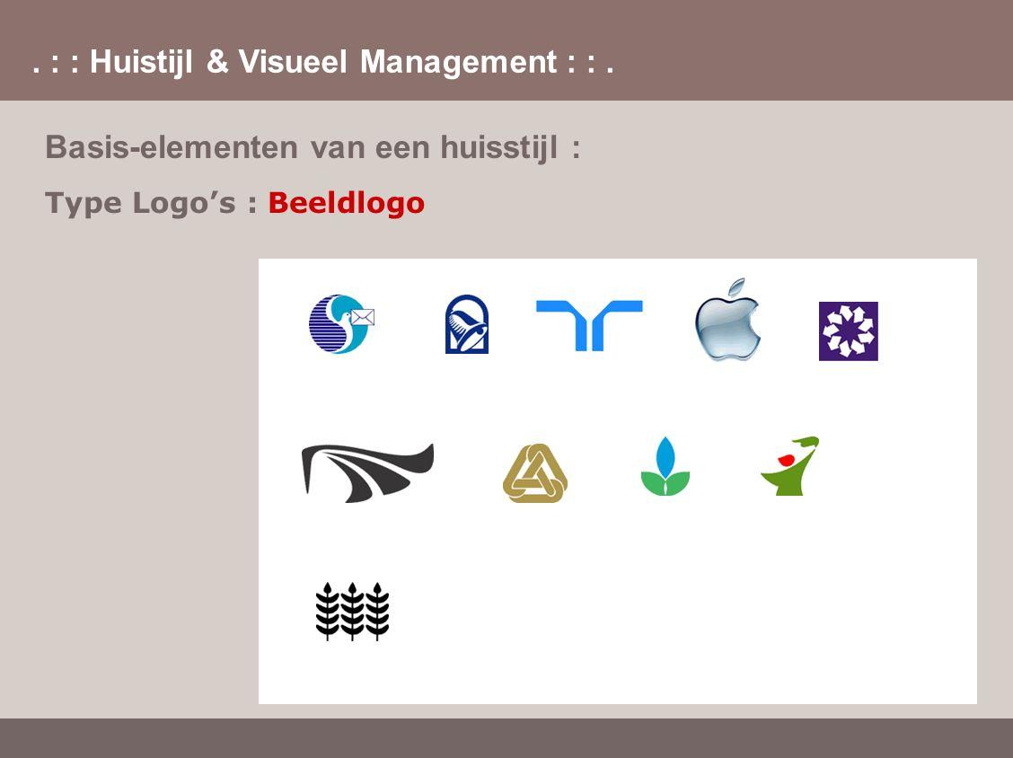 . : : Huistijl & Visueel Management : :. Basis-elementen van een huisstijl : Type Logo's : Beeldlogo