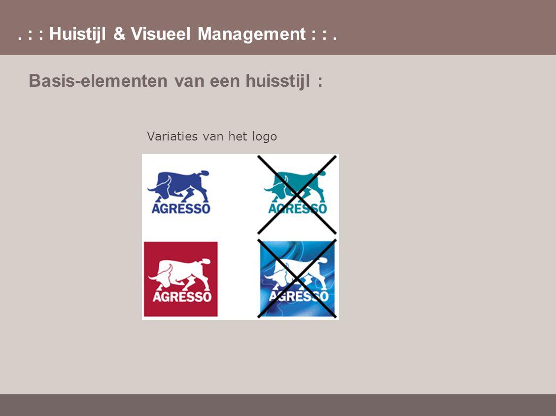 . : : Huistijl & Visueel Management : :. Basis-elementen van een huisstijl : Variaties van het logo