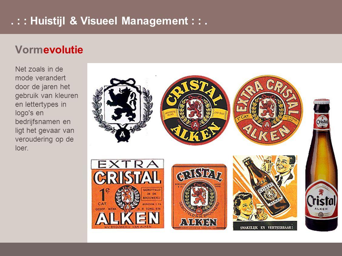 . : : Huistijl & Visueel Management : :. Net zoals in de mode verandert door de jaren het gebruik van kleuren en lettertypes in logo's en bedrijfsname