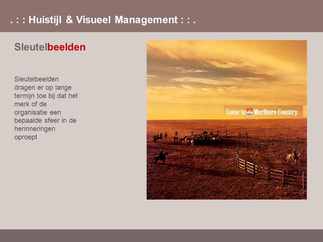 . : : Huistijl & Visueel Management : :. Sleutelbeelden Sleutelbeelden dragen er op lange termijn toe bij dat het merk of de organisatie een bepaalde