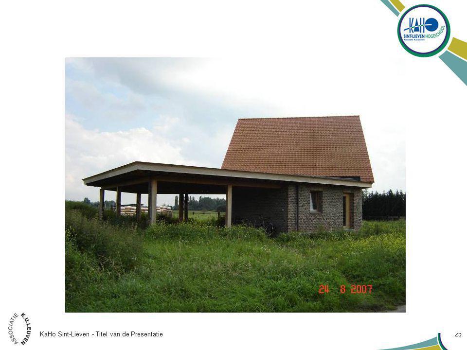 KaHo Sint-Lieven - Titel van de Presentatie 25