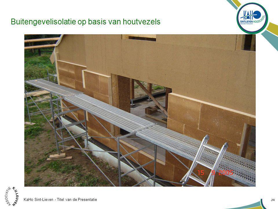 KaHo Sint-Lieven - Titel van de Presentatie 34 Buitengevelisolatie op basis van houtvezels