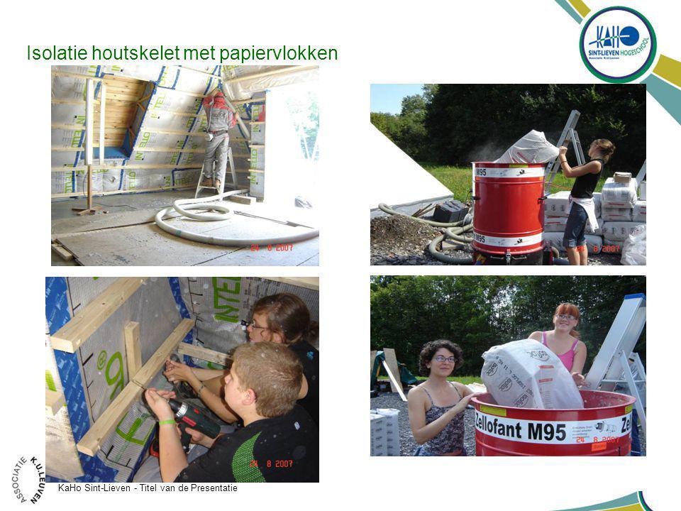 KaHo Sint-Lieven - Titel van de Presentatie 35 Isolatie houtskelet met papiervlokken