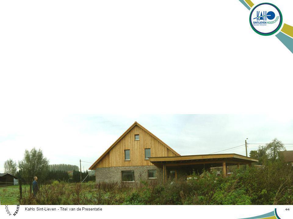 KaHo Sint-Lieven - Titel van de Presentatie 44