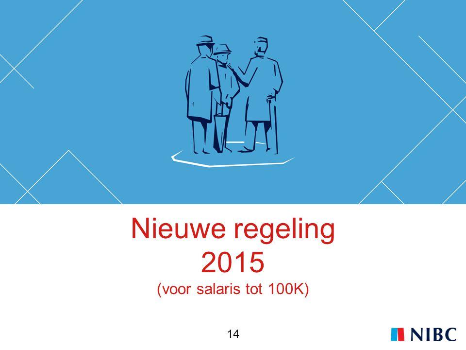 Nieuwe regeling 2015 (voor salaris tot 100K) 14
